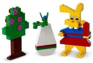 Lego Mrs Bunny Easter Set by LEGO. $19.99. Contains a total of 61 pieces. Features Mrs. Bunny, a tree and an decorated egg. Easte… | Lego easter, Lego, Easter bunny