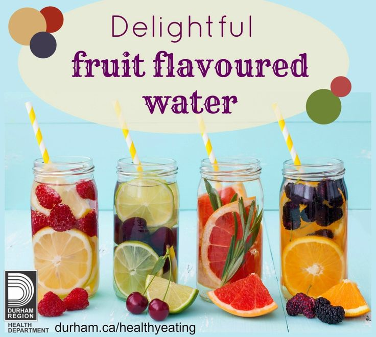 100% fruit juice can contain as much sugar as pop! Try sweetening your water with different types of fresh fruit! Check out page 7 for information on sugar sweetened beverages and why you should always choose #water first.