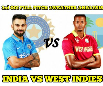 BLUECRICKETIN.COM: india vs west Indies today's match pitch and weath...
