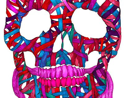 "Check out new work on my @Behance portfolio: ""Skull No.11 Ribbon"" http://be.net/gallery/61323441/Skull-No11-Ribbon"