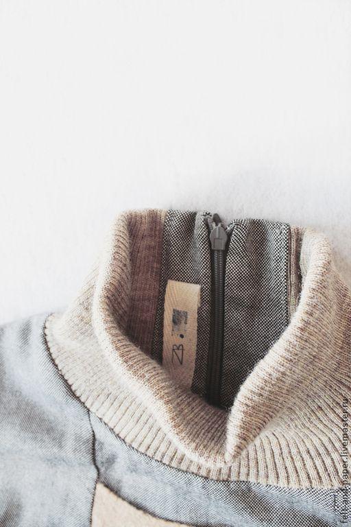 Купить Джемпер из коллекции RabFac - серый, вискозная блуза, стильная блуза, с высокой горловиной