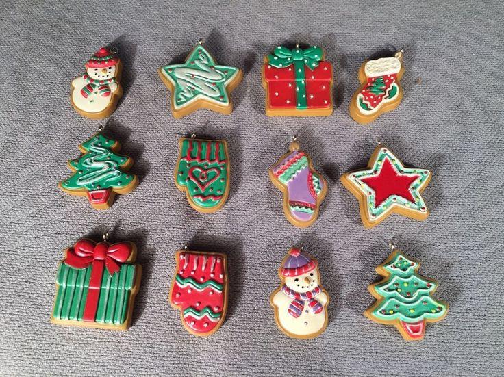 12 Miniature Hallmark Keepsake Ornaments- 2004 Sweeter By The Dozen #Hallmark