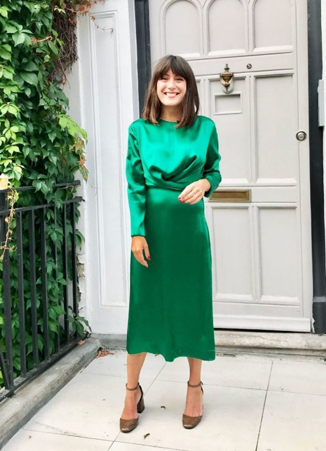 Christmas Day outfits: Green Kitri dress - 5 Perfect Christmas Day Outfits For Every Family's Dress Code