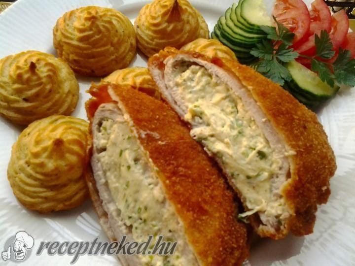 Snidlinges krémsajtos töltött borda hercegnő burgonyával   Receptneked.hu (olcso-receptek.hu)