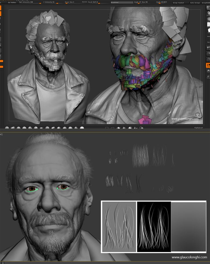 Making of a real-time portrait By Glauco Longhi