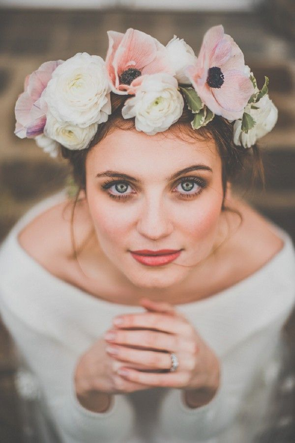 anemone flower crown | Image by Yoann Pallier Photography