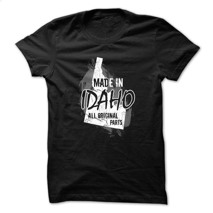 Idaho t-shirt – Made in Idaho T Shirts, Hoodies, Sweatshirts - #shirt design #cool tee shirts. ORDER NOW => https://www.sunfrog.com/Political/Made-in-Idaho.html?60505