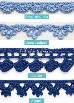 [Free Patterns] 4 beautiful crochet edges and trims that you should know