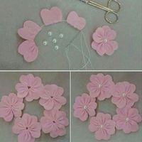 Flower made from felt...