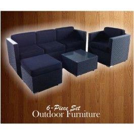 6 Piece Outdoor Furniture Set, PLUS Cushions