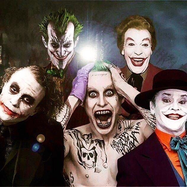 The Jokers Heath Ledger will always be the best though in my opinion. Hopefully Leto makes the cut. #jokersquad
