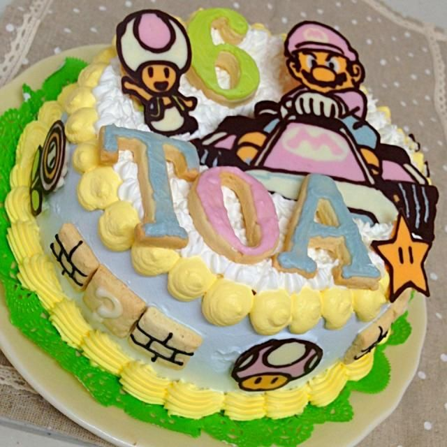 長男リクエストのマリオケーキ♪ - 81件のもぐもぐ - 長男6歳♡バースデーケーキ♫ by ありか