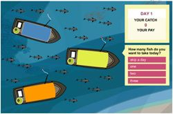The Cloud Institute for Sustainability Education - The Fish Game. This would be great for teaching about the depletion of the Great Lakes fisheries, which connects to the unit I am developing!