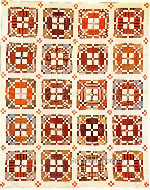 Pieced Quilt 'Road To California' 1875