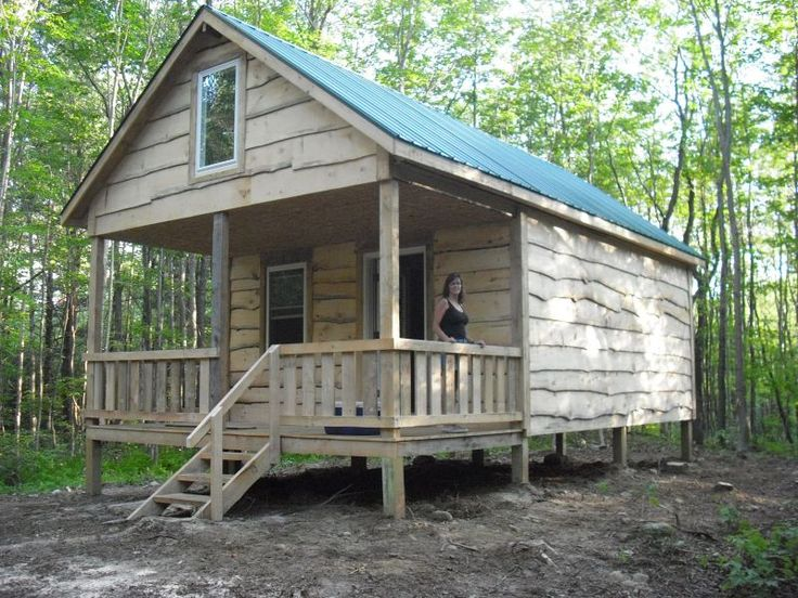 Small Cabin Plan Build Yourself Small Cabin Building Plans: Nyantler'c Cabin From Small-cabin.com, 20x16 With Sleeping