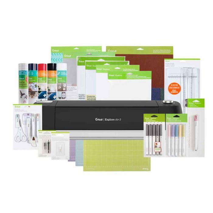 Cricut Explore Air 2 Everything Bundle Black Cricut Com Cricut Cricut Explore Air Printable Sticker Paper