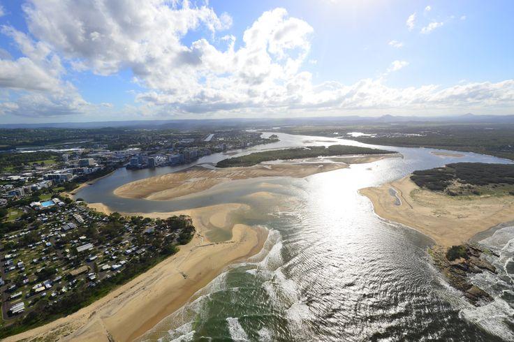 Aerial of Mooloolaba