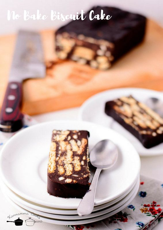 Recipe for Easy No Bake Chocolate Biscuit Cake made with Digestive biscuits. This recipe does not use condensed milk. Any Indian style digestive biscuit will work for this recipe. This recipe is eggless too. Digestive biscuits dunked in chocolate ganache.