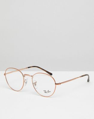 c697423dd9d Ray-Ban 0RX3582 round optical frames with demo lenses in gold 49mm ...