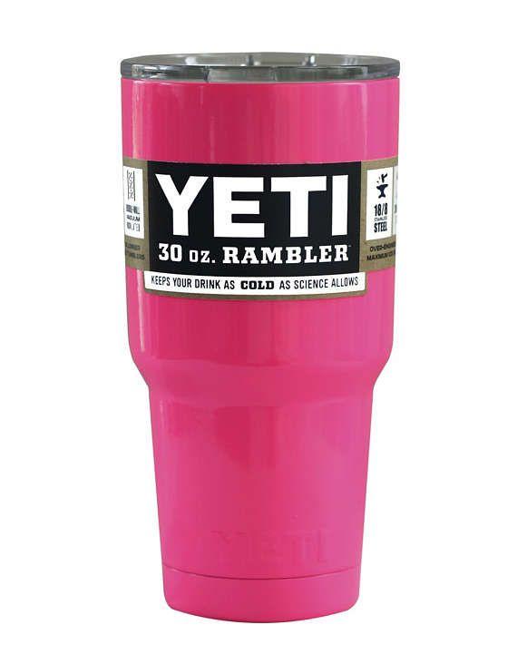 YETI auténtica luz rosa 30 oz Rambler vaso taza Yeti de la