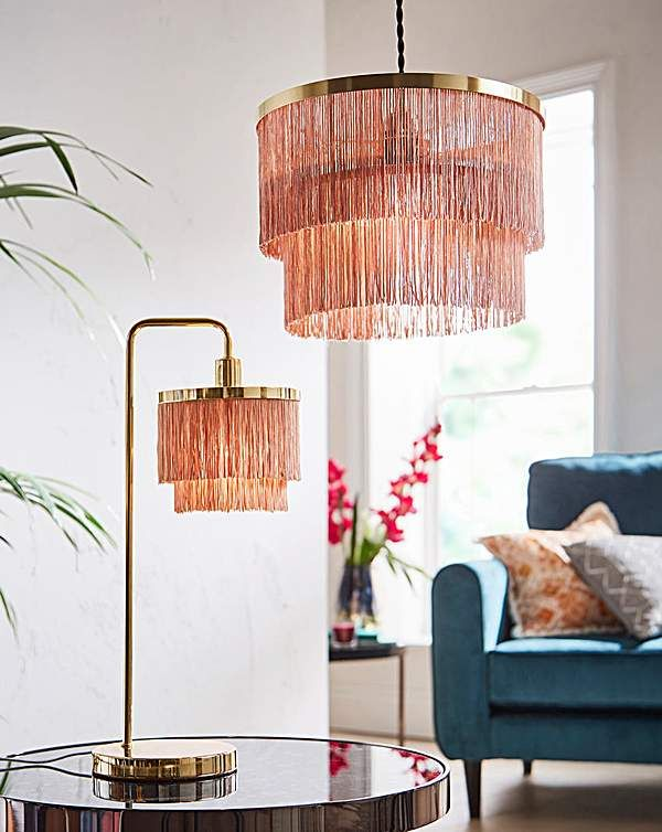 Tallulah Fringe 2 Tier Table Lamp (With images) | Chandelier