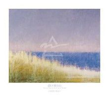 Yellow Beach Grass - Blue Water poster print by  Friday