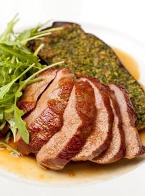 Bryan Webb's Rump of Welsh Lamb with Aubergine and Pesto
