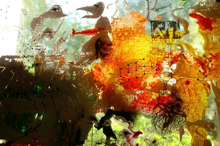 Léa Sallustro peinture sur plexiglas (détail)