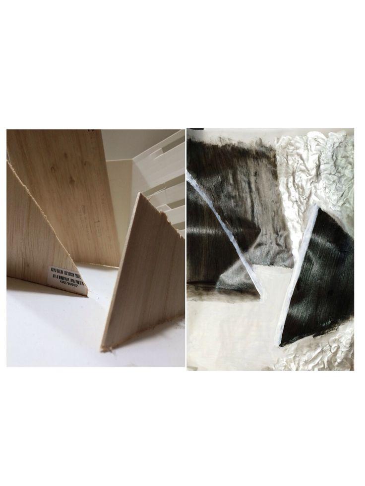 texture, value. material: balsa wood, acrylic.