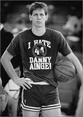 Danny Ainge wearing an interesting shirt