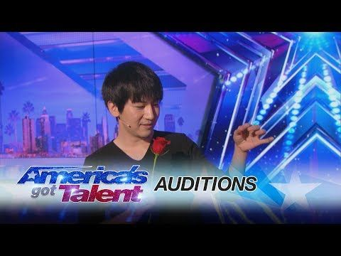 Visualist Will Tsai: Close-Up Magic Act Works With Cards and Coins - America's Got Talent 2017 - YouTube