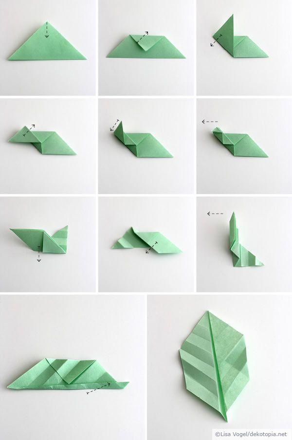Origami leaves; by Dekotopia                                                                                                                                                                                 Mehr