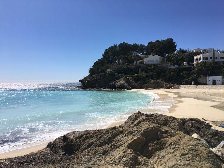 The gorgeous beach where we do circuits