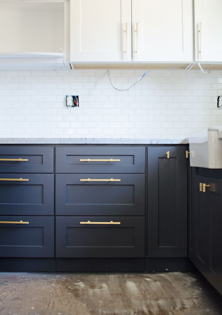 DIY And Paint Your Cabinets Like BrittanyMakes  Http://www.brittanymakes.com. Paint Cabinets KitchenNavy ...