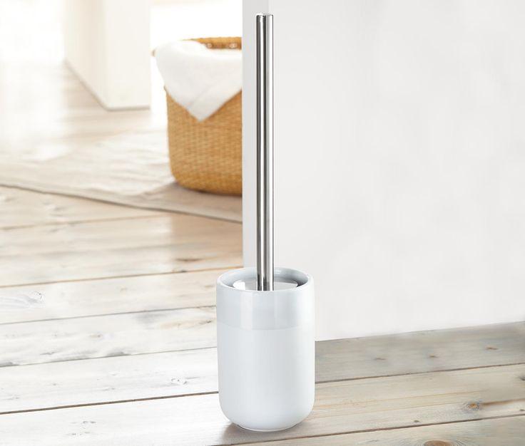 49,95 zł Wysokogatunkowa ceramika Szczotka do WC posiada stojak z wysokogatunkowej ceramiki o matowo-połyskującym efekcie. Rączka ze stali nierdzewnej polerowanej na wysoki połysk. Z zapasową końcówką szczotki.