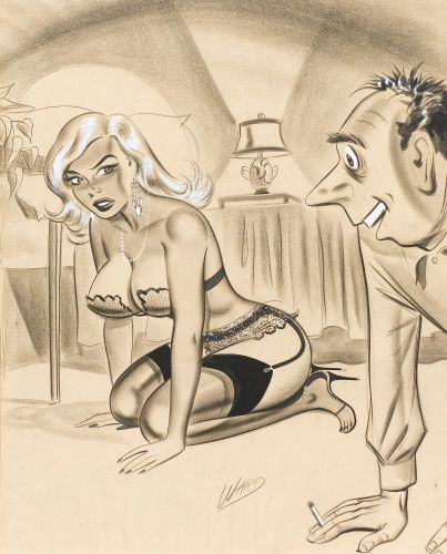 """BILL WARD - """"Just to refresh your memory, Mr. Black, I called you in to help me look for an earring."""""""