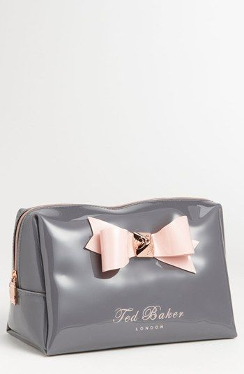 Ted Baker London Large Bow Cosmetics Bag | Nordstrom - Seriously, I freak out about how cute this bad is EVERY single time I see it.