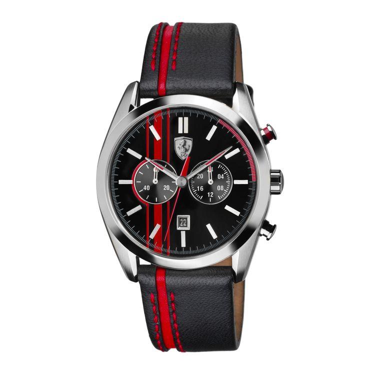 D50 Chronograph - black-red - D50 - Scuderia Ferrari - Watches #ferrari #ferraristore #watch #ferrariwatch #luxury #accessories #fashion #rossoferrari #cavallinorampante