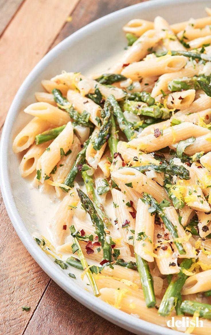 Lemony Asparagus Pasta Recipe Vegan Asparagus Recipes Asparagus Recipe Pasta Recipes