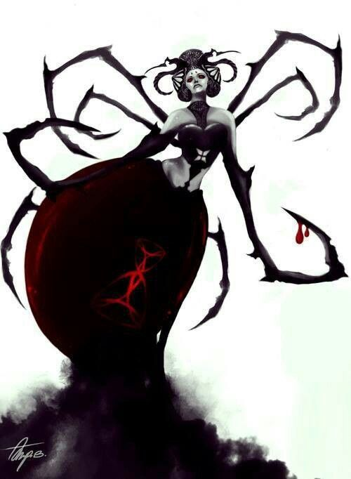 Dark art: Black Widow Spider