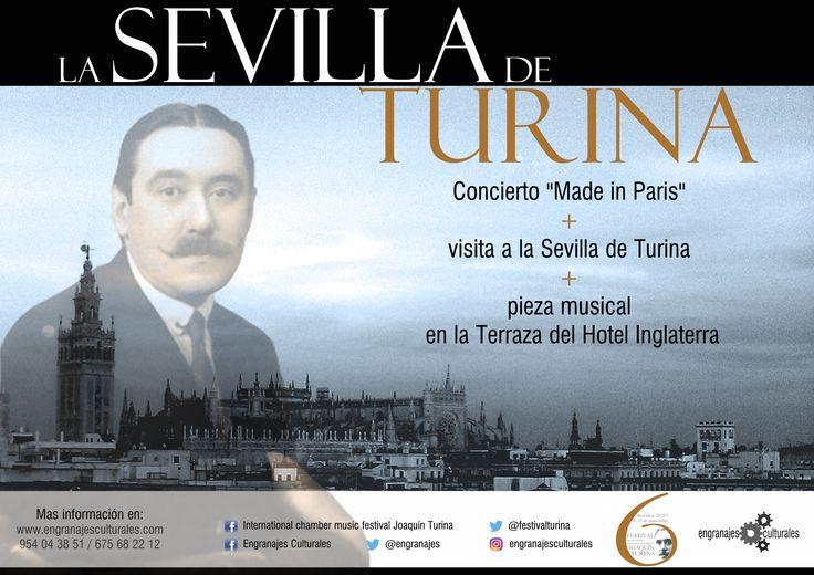 """La Sevilla de Turina, Concierto """"Made in Paris"""", Visita guiada por la ciudad donde nació este genial compositor y pieza musical en el Hotel Inglaterra."""