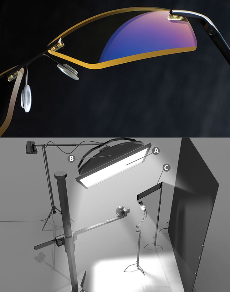 """FOR THIS CATALOG SHOT OF ANTI-GLARE COMPUTER GLASSES, THE PHOTOGRAPHER USED THREE LIGHT MODIFIERS. """"I CLIPPED TWO LAYERS OF LEE FULL WHITE DIFFUSION MATERIAL IN FRONT OF THE SOFT BOX FOR A SUPER, SUPER SOFT SOURCE,"""" SAYS PHOTOGRAPHER JOHN SCHULZ. HE ALSO MODIFIED HIS BRONCOLOR HAZYLIGHT SOFT BOX TO ACCEPT AN INTERNAL PROFOTO PRO GLOBE OVER THE FLASH TUBE TO PRODUCE A PERFECTLY EVEN LIGHT SOURCE WITHOUT A CENTRAL HOT SPOT."""