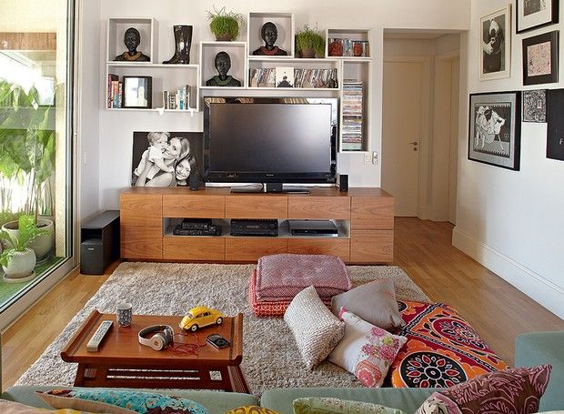 Vasos Na Sala De Tv ~ sala de TV enxergase a composição de vasos na varanda O rack é de