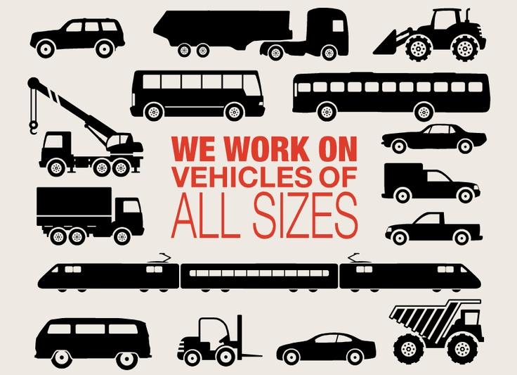 Wir arbeiten an Fahrzeugen - egal ob groß oder klein!