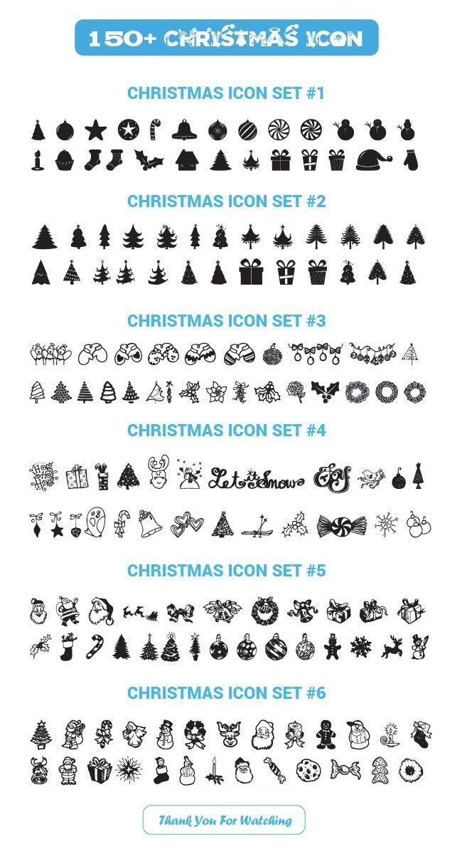 150+ kostenlose Vektor-Icons für Weihnachten