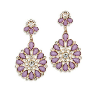 Mauve Color Drop Earrings #jewelry #accessories #paulayoung
