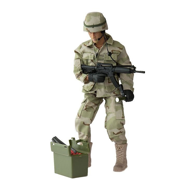 Army Men by World Peacekeepers Action Figures: 30-Pt. Full-Motion 12-Inch Army Toys w/ Ninja Grip, M4 Military Carbine, Spade, TNT & EOD Kit (EOD Technician). HIGHLY DETAILED 12-INCH MILITARY ACTION FIGURES @ 1:6 SCALE: World Peacekeepers collectible toy army men deliver on authentic detail like no other brand. 30+ JOINTS LET THIS ACTION FIGURE MOVE LIKE A REAL MAN: Set the other army toys aside -these lifelike collectible toy soldiers are easy to position any way you want. COMES W/...