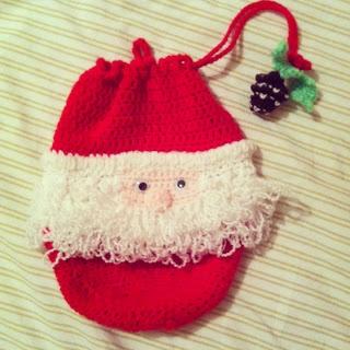 Christmas stockings, crocheted on Pinterest