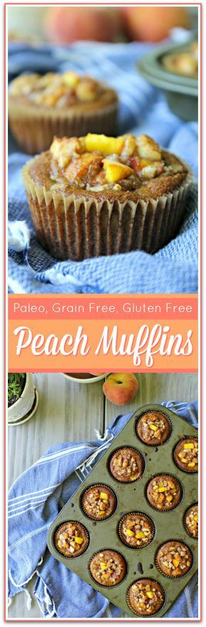 Peach Muffins Recipe (Paleo, Grain Free) – If you are looking for a delicious, healthy, grain-free Peach Muffins recipe, then look no further! This simple recipe uses fresh peaches & is Paleo approved.