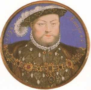 King Henry VIII by Nicholas Hilliard, 1536. Sapphire & Sage - Renaissance Medieval Jeweled Collar/Carcanet of Office/State Collection